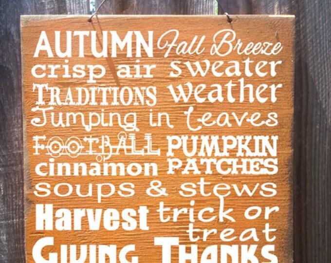 fall decor, fall decorations, fall signs, fall wood decor, fall wood signs, fall decorating, autumn signs, autumn decor, autumn decorations