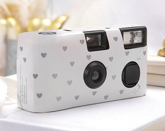 10 Disposable Cameras - Wedding Favor - Heart Pattern Camera - Wedding - True Love - Photo Booth - Party - Single Use - Romance - Set of 10
