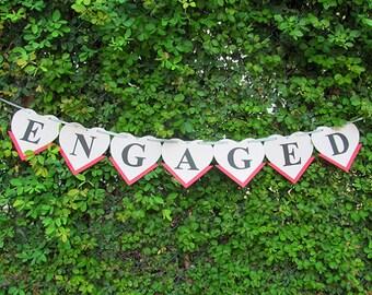 Bridal Engaged Banner / Engaged Sign / Engagement Sign / Engaged Banner / Engagement Party Sign / Engagement / Bridal Banner / Banner