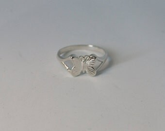 925 Sterling Silver Butterfly Kids Ring