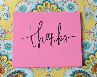 Thanks! Greeting Cards (Pack of 10) Blank Inside for Any Occasion