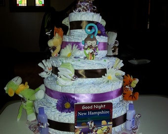 5 Tier Solid Diaper Cake
