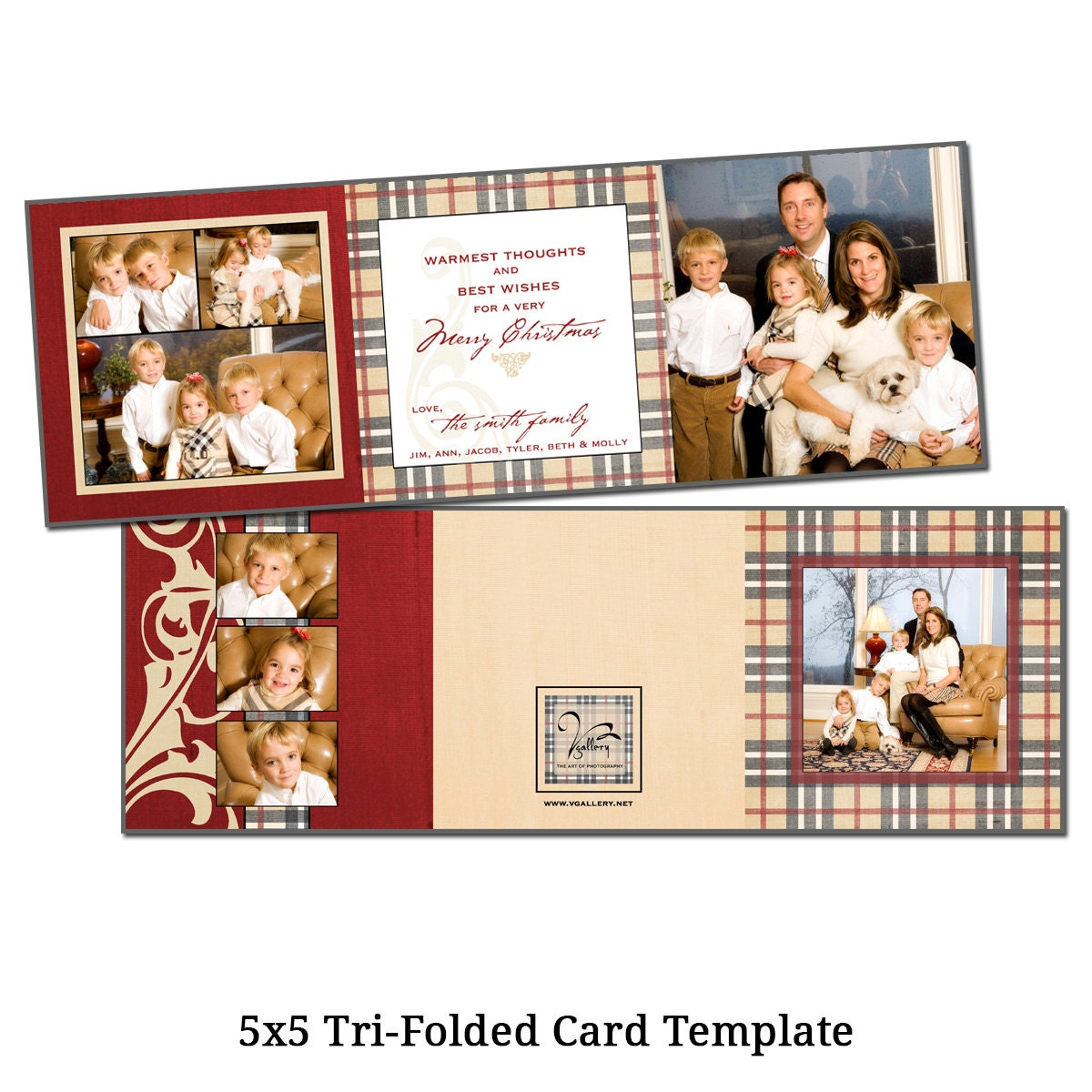 5x5 tri fold christmas card template holiday by vgallerydesigns. Black Bedroom Furniture Sets. Home Design Ideas