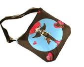 Canvas tote bag wild angel gothic print shoulder bag with adjustable strap