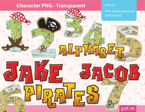 jake and the neverland pirates 2 font 10 number 2 color by ...
