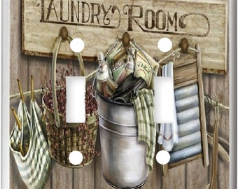 Laundry Room Wash Board Basket  image 3  Light Switch Cover Plate or Outlet   Home  Decor  Free Shipping in U.S.!!!