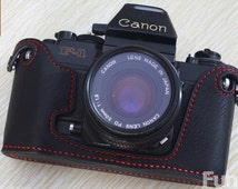 For New Canon F1 Leather Cameras Case, Half Camera Case bag cover, Handmade Leather Camera Protector