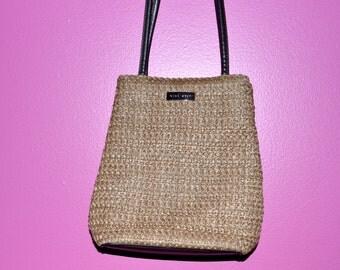 Nine West Brown shoulder woven  bag/ Vintage Woven bag/