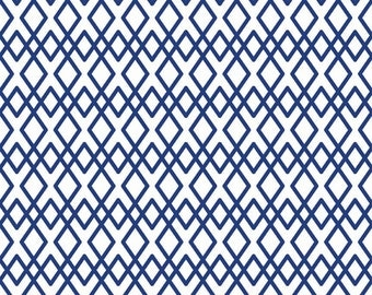 Riley Blake Lula Magnolia Lattice Blue (Half metre)