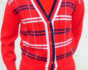 Great vintage Red 60s Tartan Vest