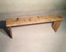 Rustic Wooden Bench, Made with Reclaimed Timber, Any Size and Wax Finish, Free Delivery