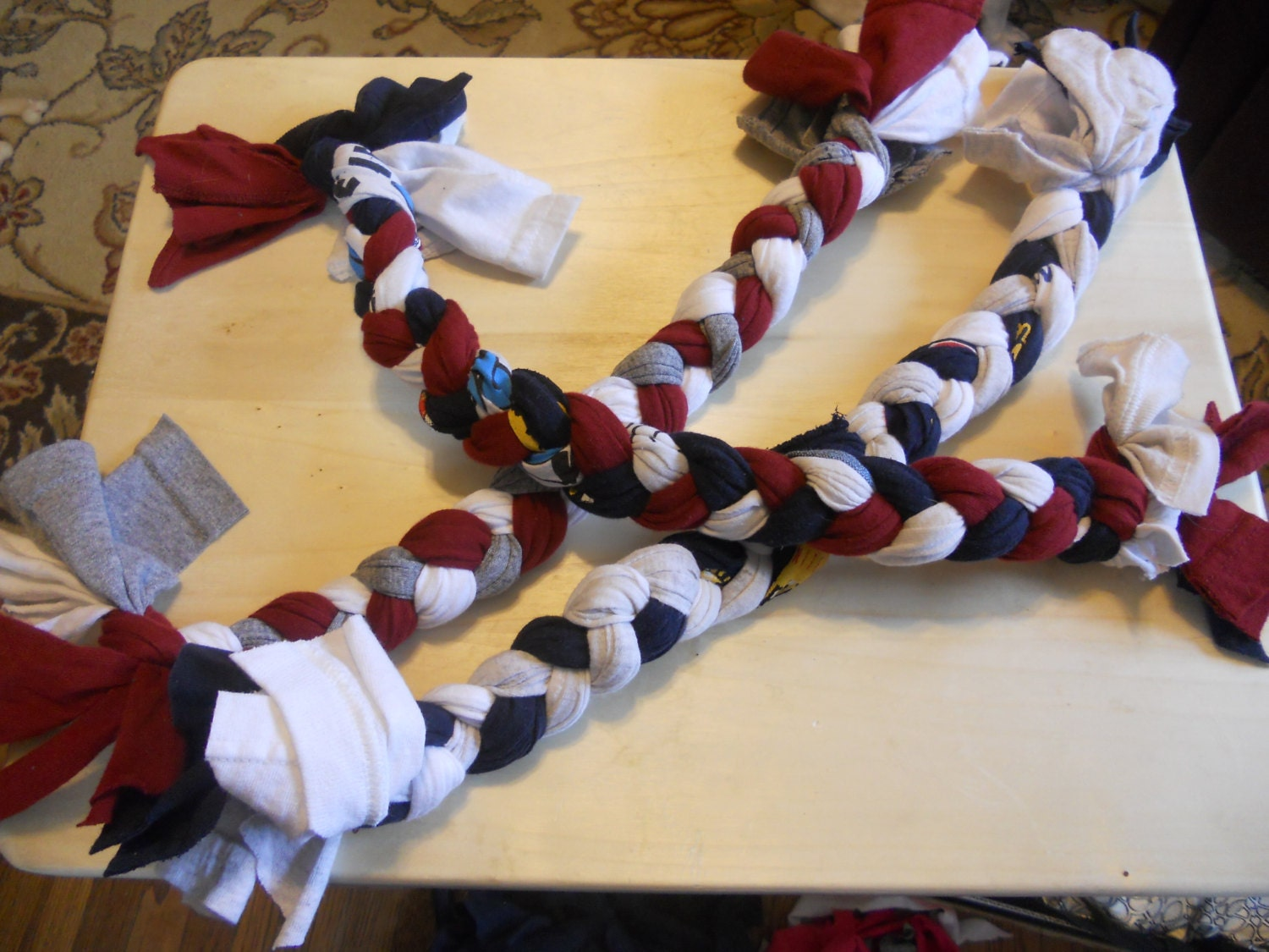 Recycled t shirt dog rope toy large for T shirt dog toy