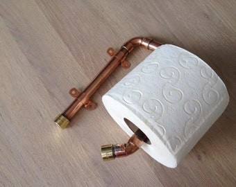 Industrial Design Brass Toilet Paper Holder