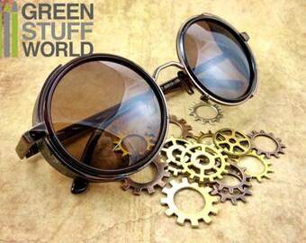 Retro SteamPunk COOPER Goggles - Brown Frame - Vintage
