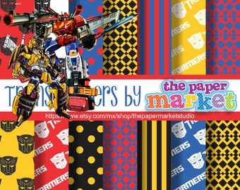 Transformers Digital Papers Polka Dot Backgrounds Lines ...