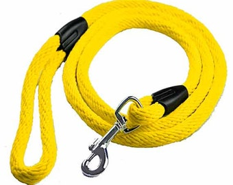 """Dog Rope """"LITE"""" Dog Leash - in YELLOW"""
