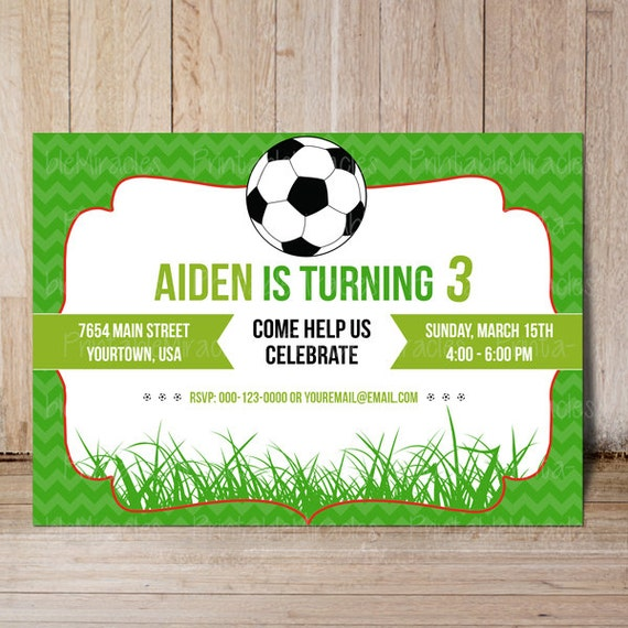 printable soccer birthday invitation  thank you label, soccer, Birthday card