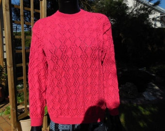 Pull for women - beautifull point perforated - hand  knitted