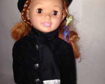 Suede Black American Girl Jacket