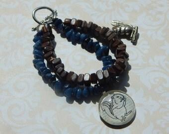 Sweet Squirrel Beaded Charm Bracelet