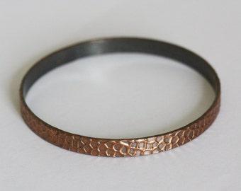 copper vintage bracelet • retro bracelet • hammered copper jewellery