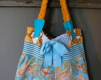 Vintage paisley handbag