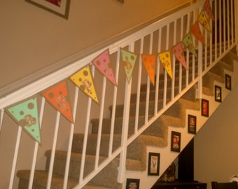 Happy Birthday Bunting (Colorful Polka Dot)