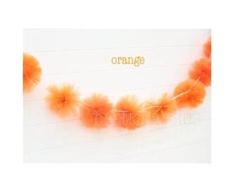 1 Orange Tulle Garland