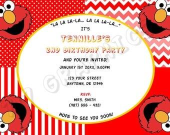 Elmo Birthday Invitation - Printable