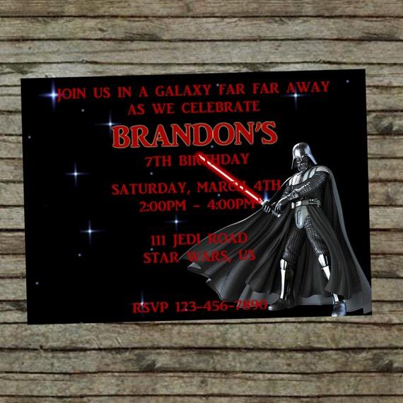 Auguri Matrimonio Star Wars : Invito di compleanno darth vader star wars