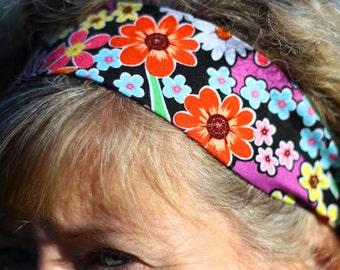 Hairband - Black/Multicolour Floral