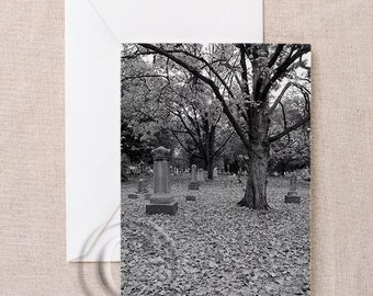 Silent Eternity Cemetery Gothic Greeting Card - Select Your Color Choice
