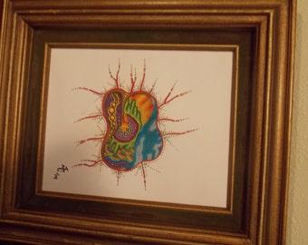 Ameba abstract art