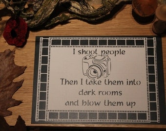 I shoot people Camera Photography Papercutting Template