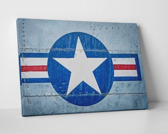 US Air Force Flag. Gallery Wrapped Canvas Print