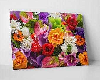 Flowers Bouquet I. Gallery Wrapped Canvas Print