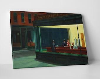 Nighthawks by Edward Hopper. Gallery Wrapped Canvas Print