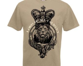 Lion tshirt, lion t shirt, lion t-shirt, khaki mens shirt. Inspirational quote tee shirts. Husband anniversary. Gift for boss. Leo Boyfriend