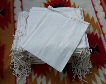 8 x10 cotton bag craft bag single cotton drawstring, bundle of 100