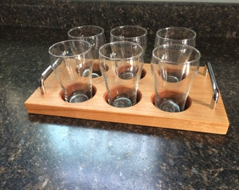Jet Powered Beer Flight- Great Christmas Gift for Craft Beer Lovers- 6 Beer Sampler- Easy to carry and harder to spill