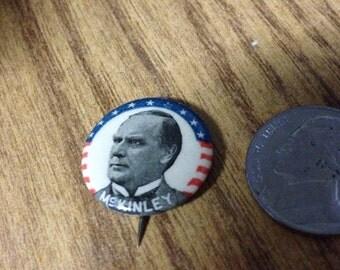1896 McKinley Campaign Button