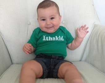 Ithakid Baby Onesie.  I'm Gorges on the back.  Custom print single designs as well.