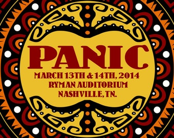 2014 Panic Nashville, TN. Wood Tour Poster