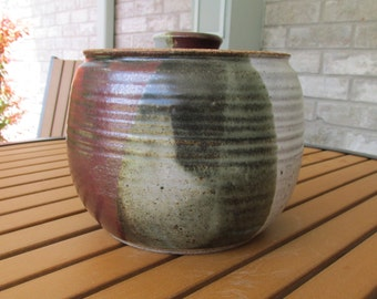 Multi-colored Pottery Pot with Lid