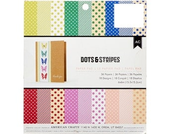 Dots and Stripes Cardstock by American Craft