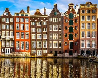 Netherlands - Amsterdam - Traditional old buildings - SKU 0120