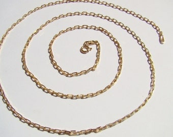 anker chain ,sterling silver , gold