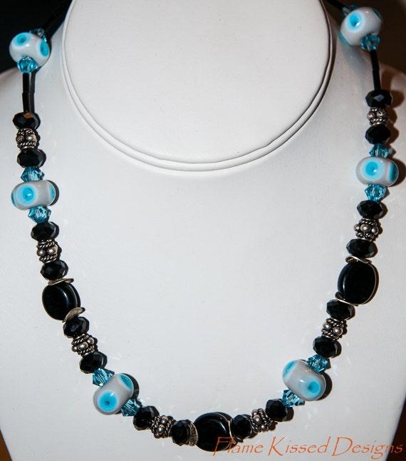Handmade Artisan Lampwork Bead Necklace