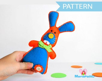 Bunny Pattern, Felt Rabbit, Toy Bunny Pattern ,Pdf Sewing Pattern A506