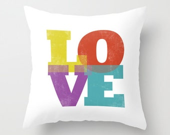 Love throw pillow typography pillow love cushion love pillow valetines decor valentines gift valentine's day gift valentine pillow